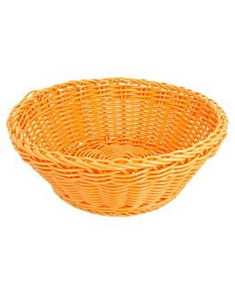 corbeilles similaire osier rondes Ø 20x8 cm orange pp (12 unitÉ)
