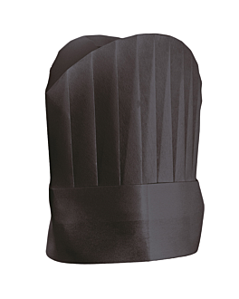 "continental chef's hats ""round top"" 25 cm black airlaid (10 unit)"