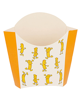 chip boxes standard 'chips' 135 g 250 gsm 13x8x13,5 cm white cardboard (1200 unit)