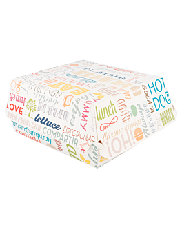 conchas hamb. gigante 'parole' 250 g/m2 17,5x18x7,5 cm blanco cartoncillo (50 unid.)