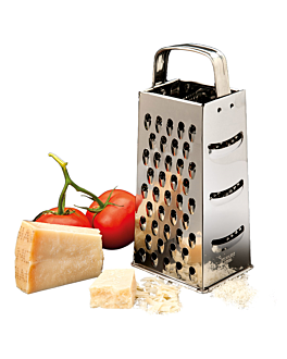 4 sided grater 10,5x8x23 cm silver stainless steel (1 unit)