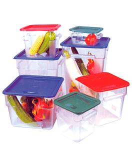 contenitore alimenti 8 l 22,5x22,5x23 cm trasparente policarbonato (1 unitÀ)
