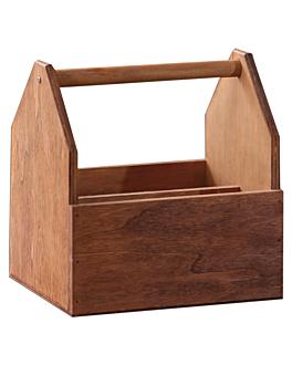cajas presentaciÓn con asa 19x16x20 cm natural madera (1 unid.)
