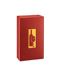 30 e. verpackungen 2 flaschen 34x18,5x9 cm bordeaux karton (1 einheit)