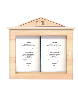 porta menÚs luminoso 60x65x8 cm natural madera (1 unid.)