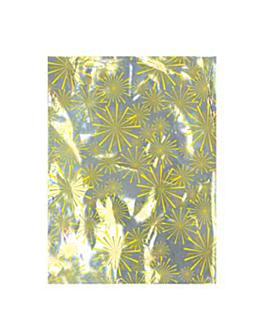 "metallic bag christmas - "" explosion "" 28x35 cm silver (100 unit)"