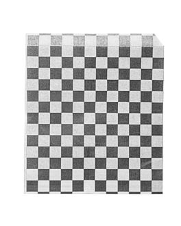 sachets ouverts 2 cÔtes 'fitipaldi' 34 g/m2 13x14 cm noir parch.ingraissable (1000 unitÉ)