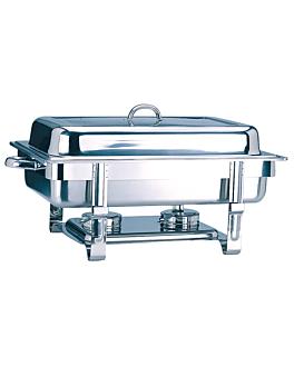 chafing dish gastronorm 1/1 9 l 63x35,5x27,3 cm argente inox (1 unitÉ)