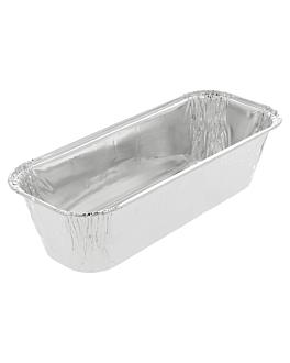 recipientes plum cake 600 ml 20,6x8,6x5,1 cm aluminio (1600 unid.)