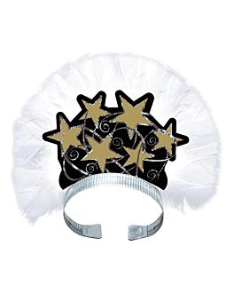 tiaras hologrÁficas de lujo  negro cartoncillo (12 unid.)