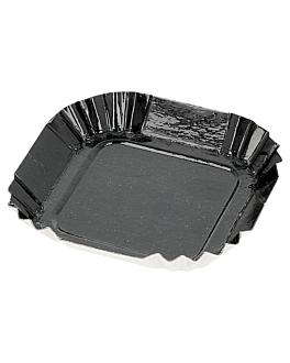 square mini plates 325 g/m2 5,5x5,5 cm black cardboard (100 unit)