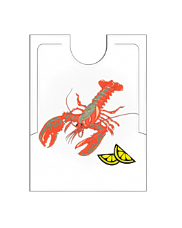 adult lobster bibs 38,3x48 cm white pehd (500 unit)
