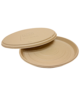 bases recipientes pizza 'bionic' Ø 35,7x3,3 cm natural bagaÇo (150 unidade)