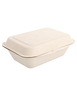 caixas 'bionic' 600 ml 13,6x18,2x6,4 cm natural bagaÇo (1000 unidade)