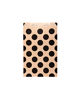 bolsas planas topos 60 g/m2 12+5x18 cm natural kraft verjurado (250 unid.)