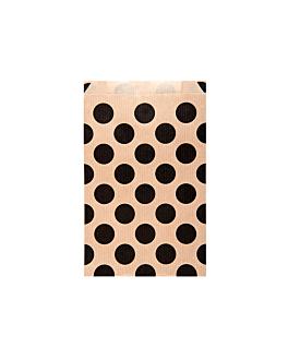 sacchetti piani a pois 60 g/m2 12+5x18 cm naturale kraft a costine (250 unitÀ)