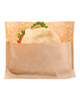 sacos com base 'kangoo pack' 50 g/m2 + 20 peld 21x17/11x3 cm natural kraft (100 unidade)