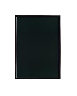 pizarra mural 60x90 cm negro madera (1 unid.)