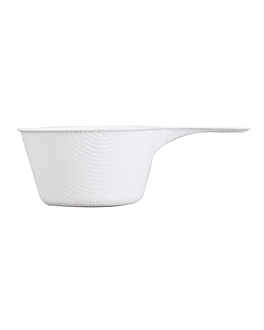 container with handle 'bionic' 9,2x5,7x3 cm white bagasse (1000 unit)