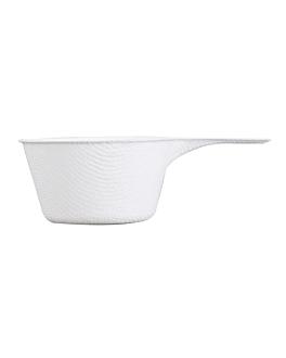 recipiente taza con asa 'bionic' 9,2x5,7x3 cm blanco bagazo (1000 unid.)
