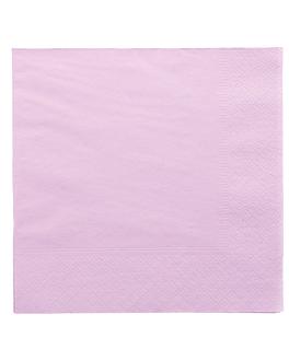 serviettes ecolabel 2 plis 18 g/m2 39x39 cm lavande ouate (1600 unitÉ)