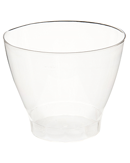 injected martini glasses 250 ml Ø 9,2x7,2 cm clear cristal ps (750 unit)