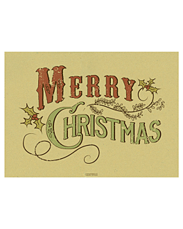 mantelines gruesos 'vintage - merry christmas' 90 g/m2 31x43 cm paja papel (1250 unid.)