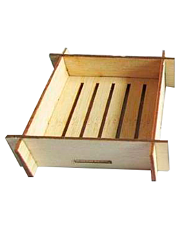 mini containers for appetisers 6,3x6,3x3 cm natural bamboo (400 unit)