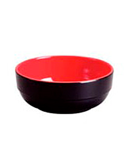 bowls black/red Ø 14x5,6 cm melamine (72 unit)