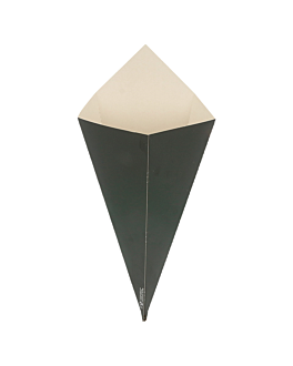 cÔnes pour fritures 250 g 250 g/m2 16x27 cm noir carton (1200 unitÉ)