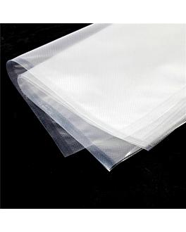 embossed vacuum pack bags 180 g/m2 90µ 27x50 cm clear pa/pe (100 unit)