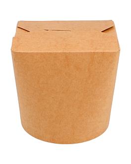 envases multiuso microondables 780 ml 275 + 25 pe g/m2 Ø9x9 cm natural kraft (50 unid.)