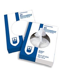 25 u. sacs hygiÉniques 15µ 15x27 cm blanc pehd (1 unitÉ)