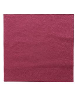 serviettes ecolabel 2 plis 18 g/m2 39x39 cm prune ouate (1600 unitÉ)