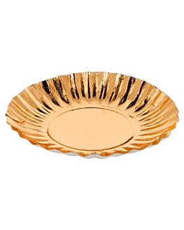 plates 410 g/m2 Ø17 cm gold cardboard (250 unit)