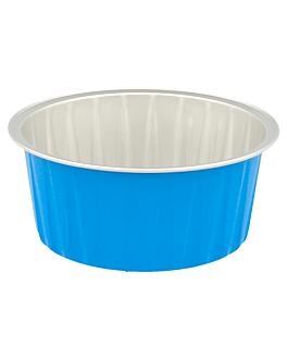 recipient patisserie 125 ml Ø8,5x3,5 cm bleu aluminium (100 unitÉ)