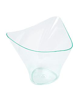 coppetta alta triangolo 100 ml 7,7x7,4x6,3 cm verde acqua ps (576 unitÀ)