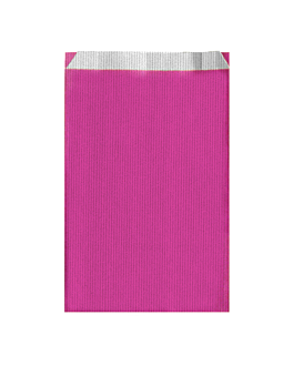 flat bags one-colour 60 gsm 26+9x46 cm fuchsia cellulose (250 unit)