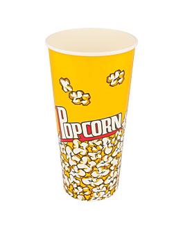 gobelets pour pop-corn 720 ml 230 +20 pe g/m2 Ø 9,6x17,7 cm carton (1000 unitÉ)