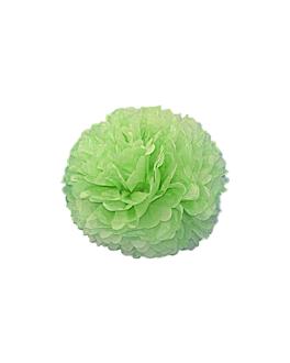 pom pom flower Ø 25 cm verde (10 unid.)