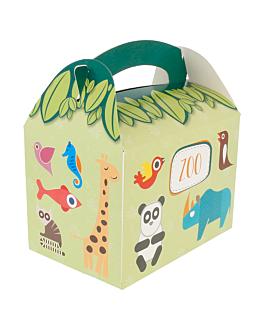 boÎtes menu enfant 'zoo' 320 g/m2 17x16x10 cm quadrichromie carton (300 unitÉ)