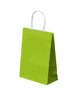 bolsas sos con asas 80 g/m2 26+14x32 cm verde anÍs celulosa (250 unid.)