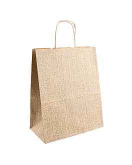 sacos com asas 'arpillera' 80 g/m2 26+14x32 cm natural kraft (250 unidade)