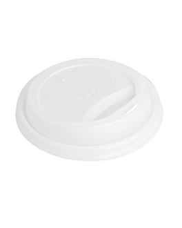 lids for cups 240 ml 'biodegradable' white cpla (1000 unit)