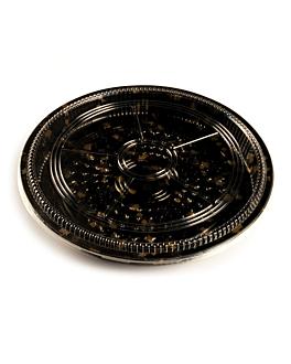 120 contenitoris +coperchi sushi Ø38x5 cm nero ps (120 unitÀ)