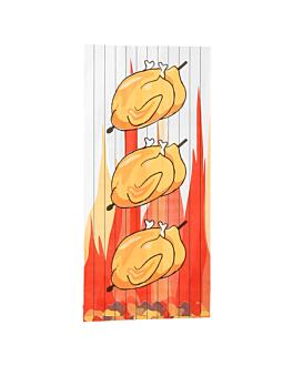 bossa per 1/2 pollastre 40 g/m2 + 15µ pp 13+7,5x28 cm blanc paper (500 unitat)