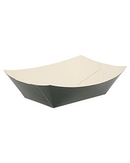 schiffchen 240 g 250 g/m2 8,5x5x4 cm schwarz feinkarton (200 einheit)