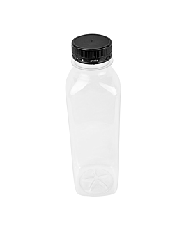 bottles 500 ml 6x6x19,5 cm clear pet (126 unit)