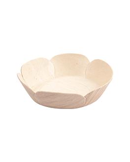 bowls 'wood' Ø 11,5x3 cm natural wood (50 unit)