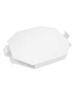 caja para paella 375 g/m2 50,5x50,5x5 cm blanco cartÓn (100 unid.)